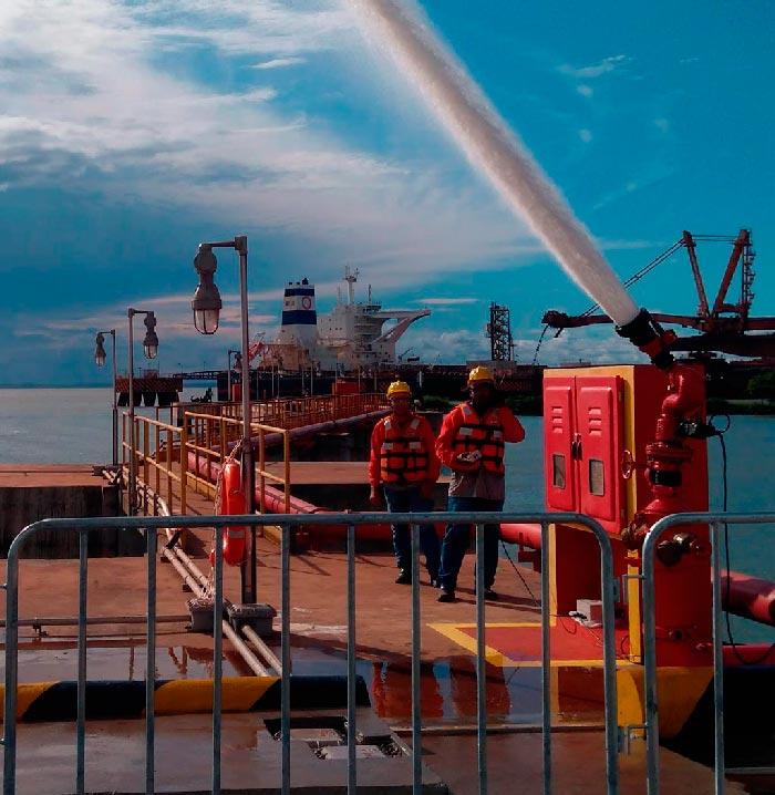 canhão monitor porto